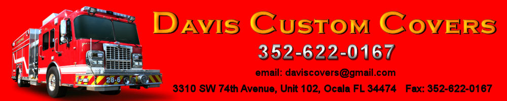 Custom Fire Truck Covers Tarps and Cargo Netting by Davis Custom Covers